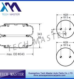 trailer air lift axle suspension double convoluted air spring firestone air bellow w01 358 7444 [ 900 x 900 Pixel ]