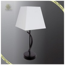 Hot Classic White Fabric Shade Table Lamp Simple