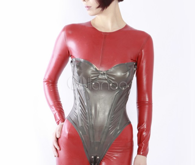 Buy Free Shipping Newest Halloween High Quality Sexy Grey Unisex Latex Corset Zentai Suit In Cheap Price On Alibaba Com