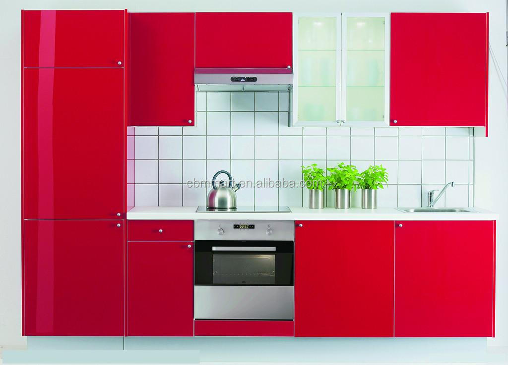 Pvc Kitchen Cabinet Door High Gloss Red Kitchen Cabinet Buy Pvc