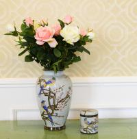 Chinese Modern Ceramic Types Of Flower Vase Painting ...