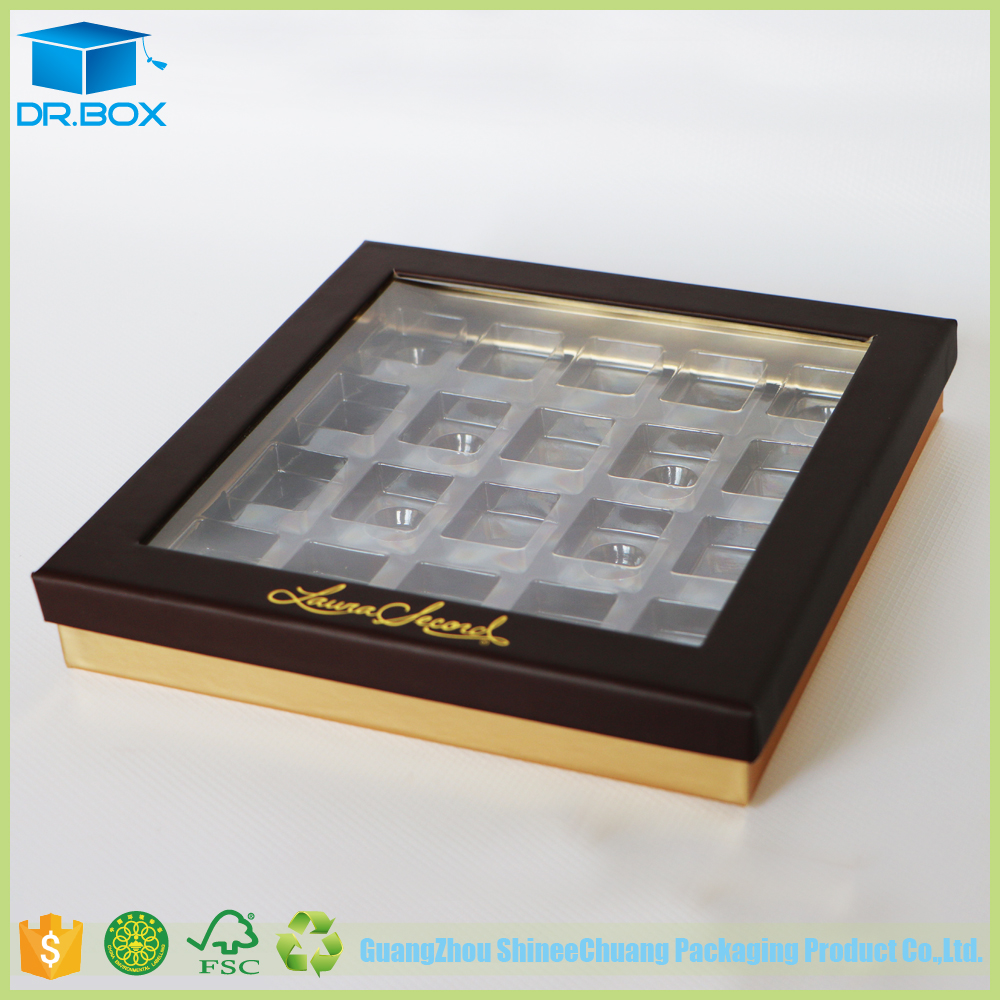 Gold Paper Chocolate Packaging Paper Box Chocolate Boxes