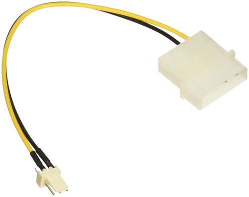 small resolution of get quotations c2g cables to go 27077 3 pin fan to 4 pin power adapter