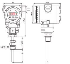4-20ma Pt100 Temperature Transmitter Or Rtd With Hart