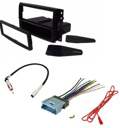 get quotations car stereo radio cd player receiver install mount kit harness radio antenna buick chevrolet hummer pontiac [ 1000 x 1000 Pixel ]