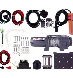 get quotations 3500lb atv winch utv 12v electric 3500 lb brand off road waterproof recovery winch kit [ 1001 x 1001 Pixel ]