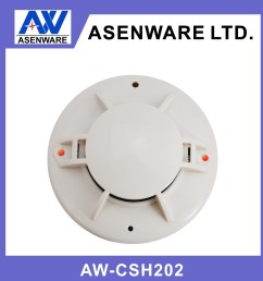 asenware home use fire alarm system 2 wire connect with smoke detector and heat detector [ 1000 x 1000 Pixel ]