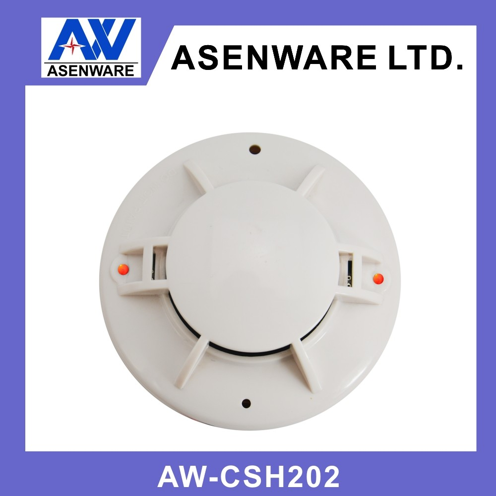 hight resolution of asenware home use fire alarm system 2 wire connect with smoke detector and heat detector