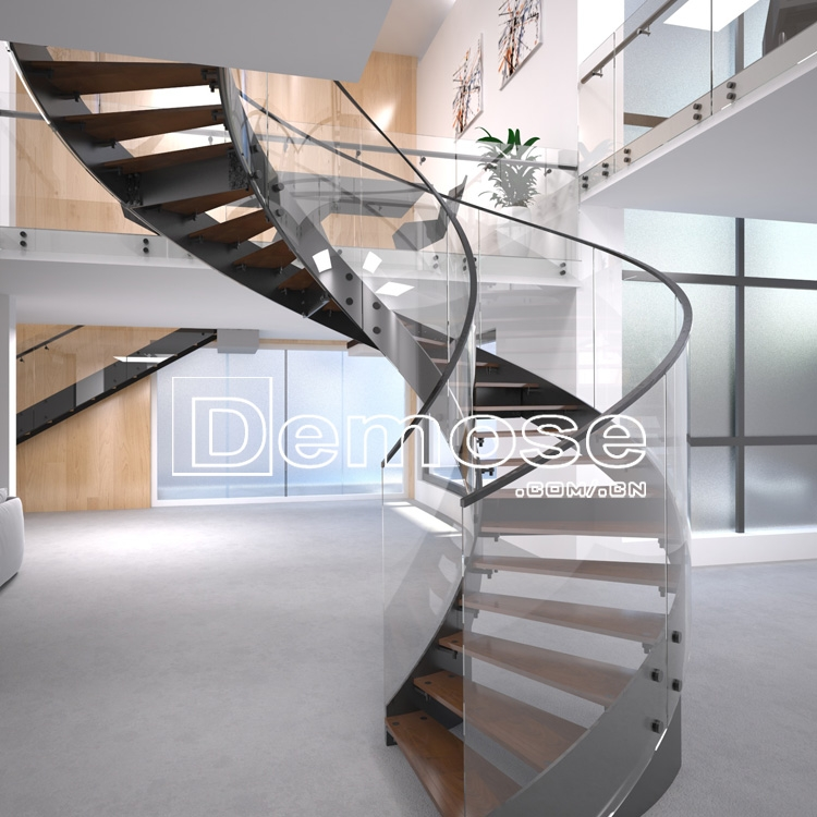 Stainless Steel Glass Curved Round Staircase Design Buy Glass   Stainless Steel Glass Staircase   House   Ultra Modern   Curved   Mirror   Design