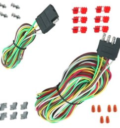 25 4 way trailer wiring connection kit flat wire extension harness boat car rv [ 1086 x 1084 Pixel ]