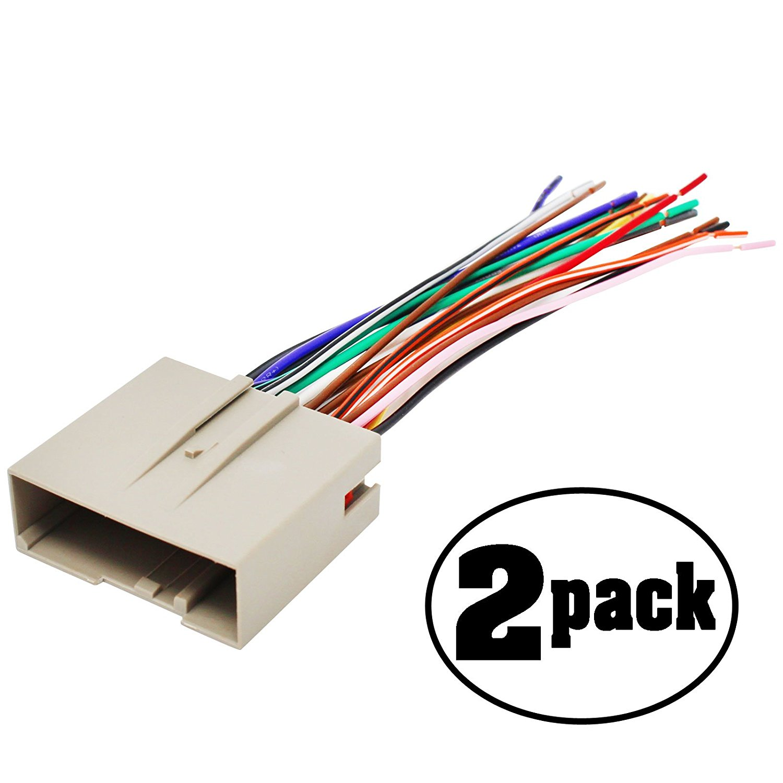 hight resolution of get quotations 2 pack replacement radio wiring harness for 2004 mercury monterey premier mini passenger van 4