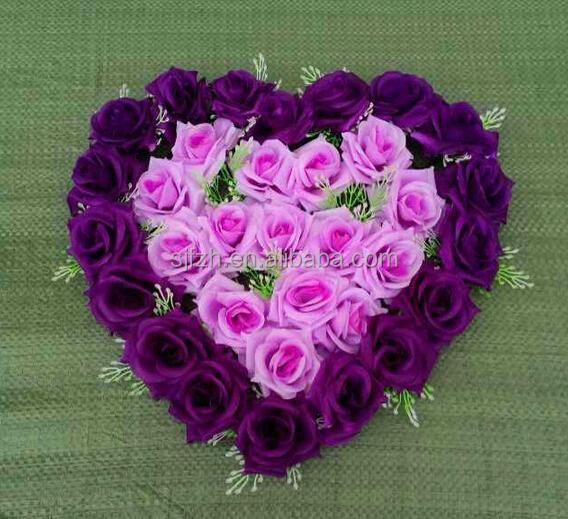 handmade heart shaped flower
