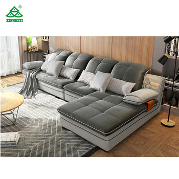 modern sofa l shape led set furniture living italy home fashion fabric