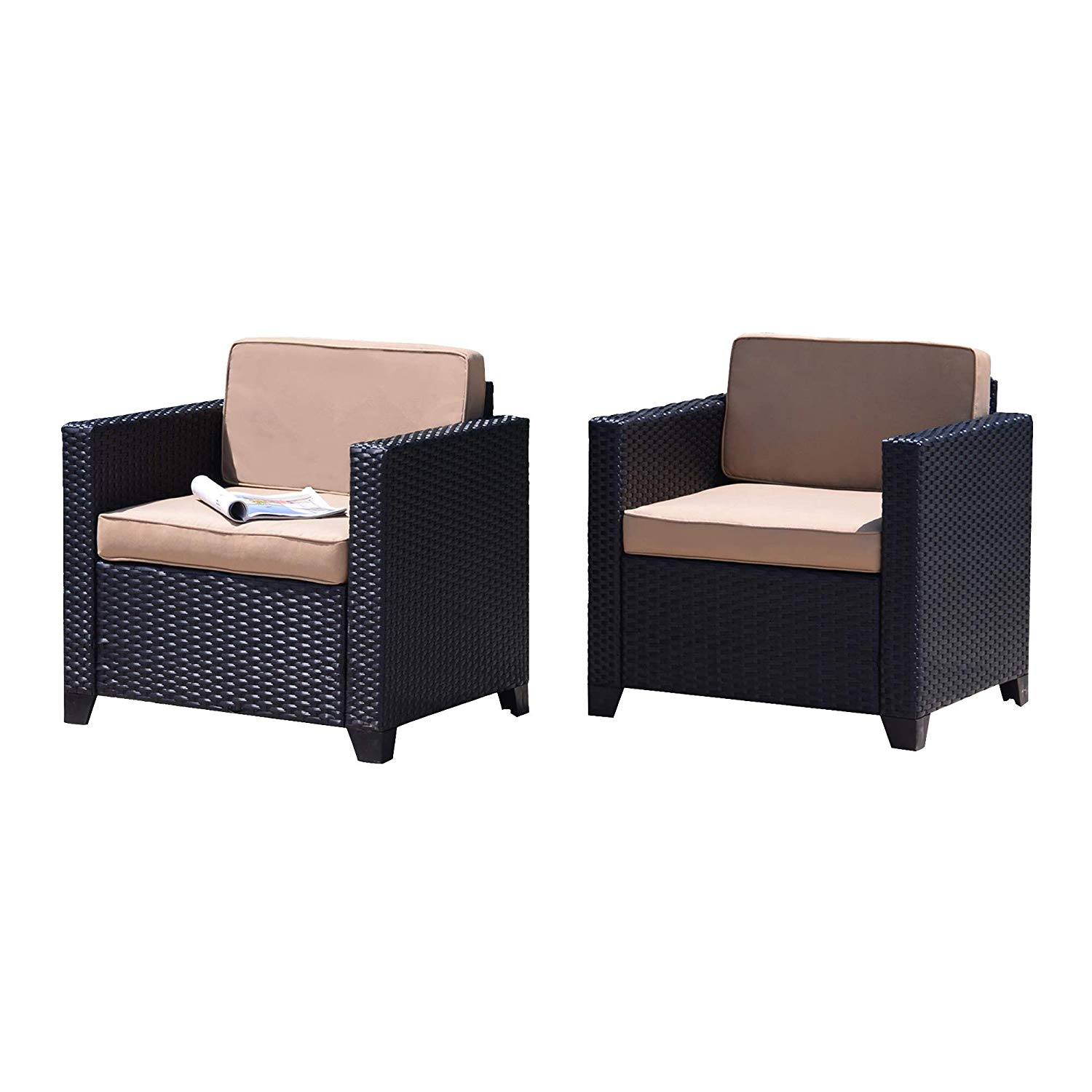 cheap chair cushions outdoor small scale upholstered swivel chairs garden find get quotations furniture wicker club 2 pc patio rattan dining sofa seating