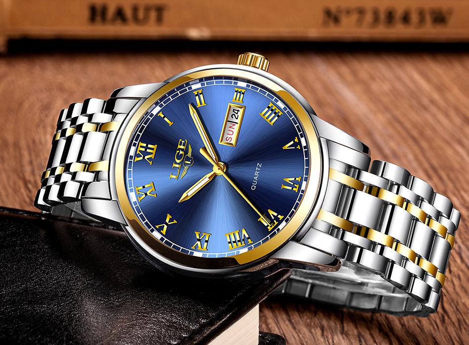 HTB1vgm4fZrI8KJjy0Fhq6zfnpXaP LIGE Watch Men Fashion Sports Quartz Full Steel Gold Business Mens Watches Top Brand Luxury Waterproof Watch Relogio Masculino