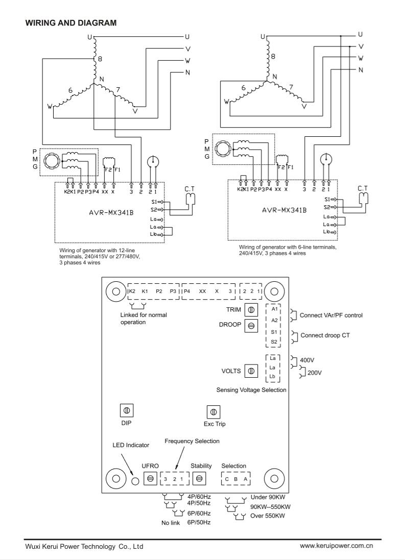 E000-23412 Generator Automatic Voltage Regulator Mx341b