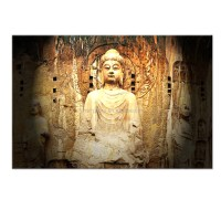Buddha Canvas Wall Art Prints/peaceful Stone Buddha Home ...