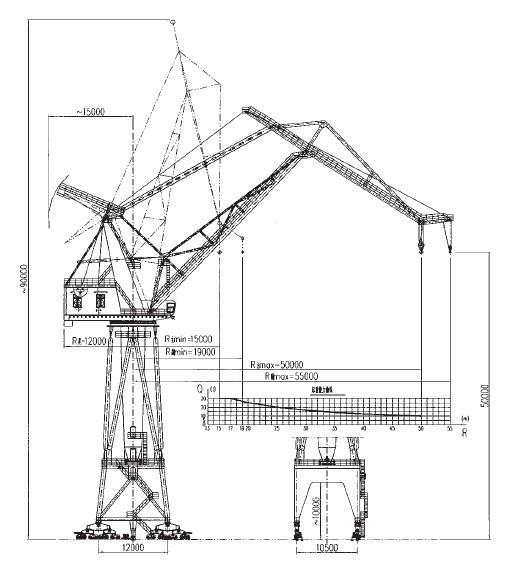 Portal Crane Nucleon Offshore Pedestal Marine Deck Crane