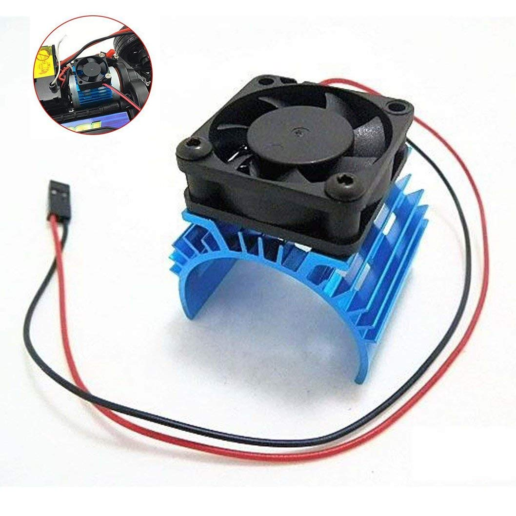 hight resolution of get quotations jftech aluminum electric motor heat sink heatsink with 5v cooling fan for hsp tamiya traxxas rc