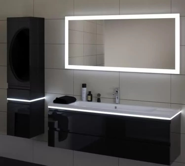 norhs contemporary rectangle long wall lighted vanity led illuminated mirror with integrated lighting for bathroom decor buy led illuminated