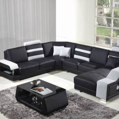 Cheap Sofa Sets 5 Seater Collect Old For Free Sweden Style Seat Black Leather Living Room Love ...
