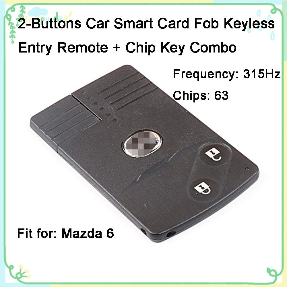 medium resolution of get quotations 1 sets 2 buttons 315hz car key fob keyless entry replacement intelligent smart card alarm
