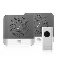 get quotations upgraded 2018 wireless doorbell kits kapoo waterproof wireless doorbell chimes 1000 feet [ 1001 x 1001 Pixel ]