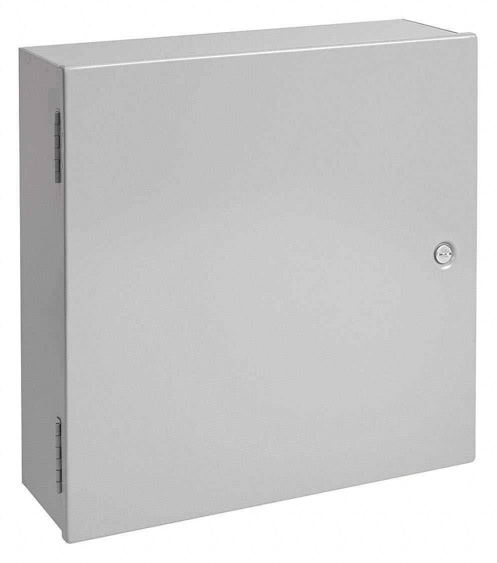 medium resolution of 36 h x 30 w x 9 d metallic enclosure gray knockouts no 1 4 turn latch closure method