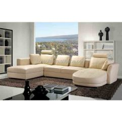 Living Room Furniture Sets For Sale Rental U Shape Leather Sofa Modern Design Sectional