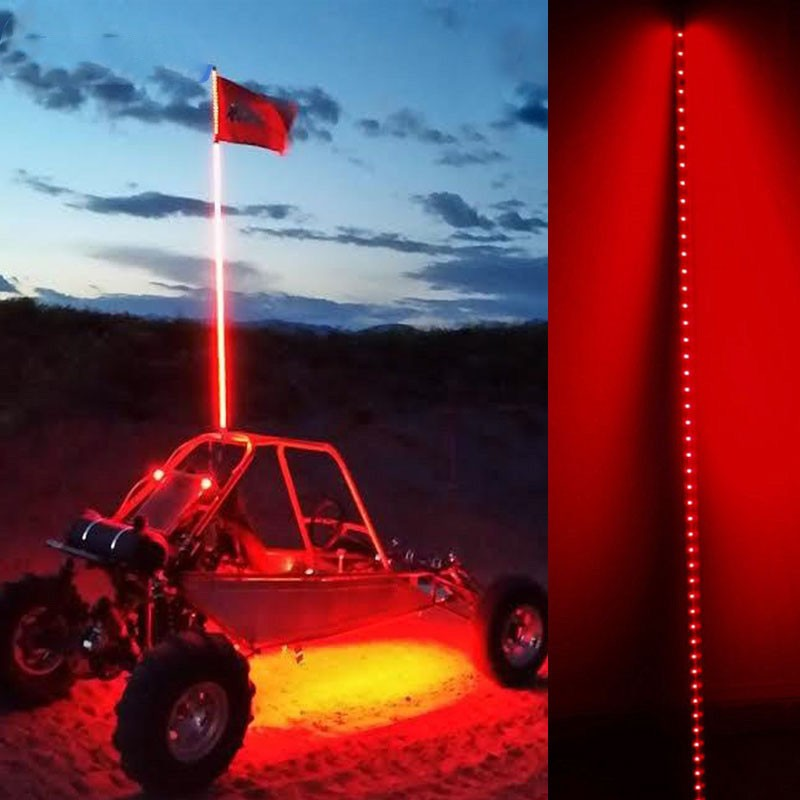 15m18m Car Led Safety Antenna Flag Pole Lights For Atv