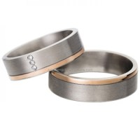 His & Hers Cheap Promise Rings For Couples In Gold For ...
