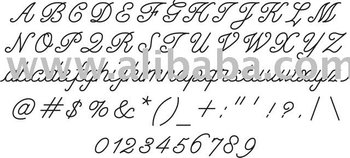 font templates for manual engraving machines, View font