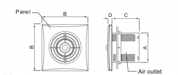 Smoke Extractor Fan Exhaust Fan 6 Inch Kitchen Ventilator