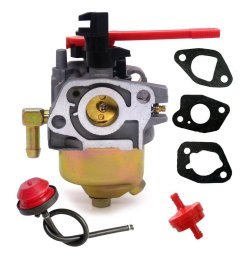 get quotations hifrom carburetor with fuel line filter primer bulb for troy bilt mtd craftsman snow blower replace [ 1086 x 1086 Pixel ]