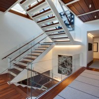 Modern Design Steel Beam Stringer Solid Wood Stairs Tread ...