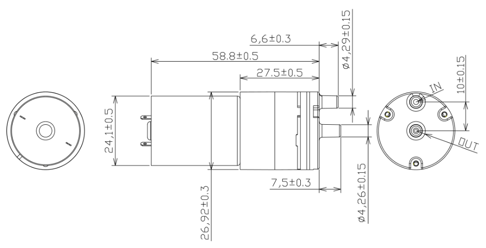 Mini Brushless Electric Breast Enlargement Vacuum Pump 6 V
