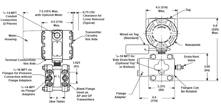 High Quality Diaphragm Sealed Differential Pressure