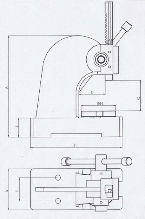 Ddp Arbor Press / Deep Drawing Press Manual 0.5t 1t 2t 3t