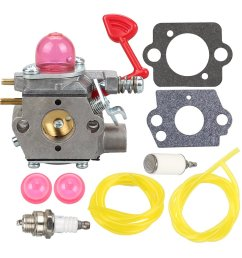 get quotations mckin wt 875 545081855 carburetor with fuel line filter for craftsman poulan pro blower bvm200c [ 1000 x 1000 Pixel ]