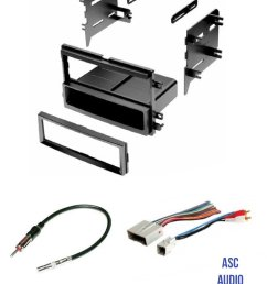 get quotations asc audio car stereo radio install dash kit wire harness and antenna adapter to [ 1200 x 1553 Pixel ]