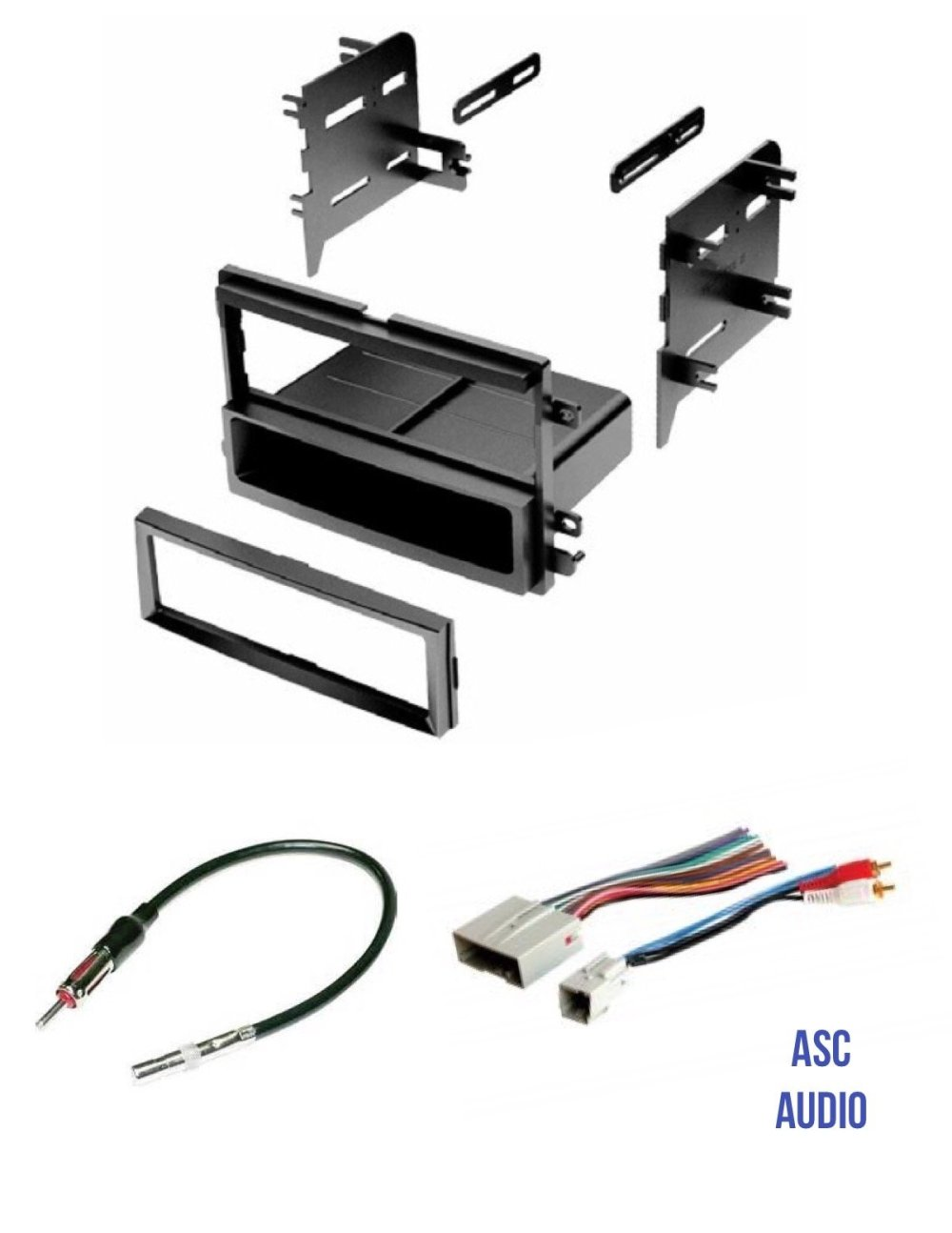 medium resolution of get quotations asc audio car stereo radio install dash kit wire harness and antenna adapter to