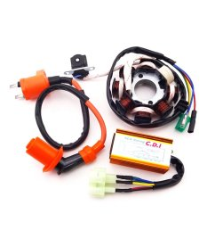 xljoy magneto stator racing ignition coil 6 pins wires ac cdi box for chinese gy6 125cc [ 1005 x 1005 Pixel ]