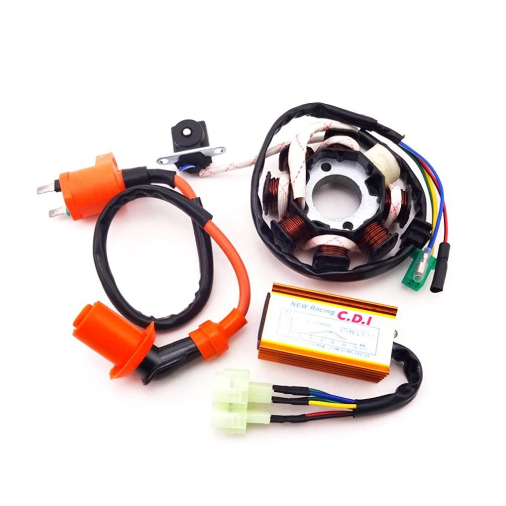 medium resolution of xljoy magneto stator racing ignition coil 6 pins wires ac cdi box for chinese gy6 125cc