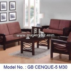 Wooden Sofa Living Room Cheap Modern Sets Malaysia Arm Chair Loveseat Set Furniture
