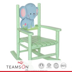 Kids Wood Rocking Chair Tall Kitchen Tables And Chairs Teamson Safari Elephant Buy Wooden