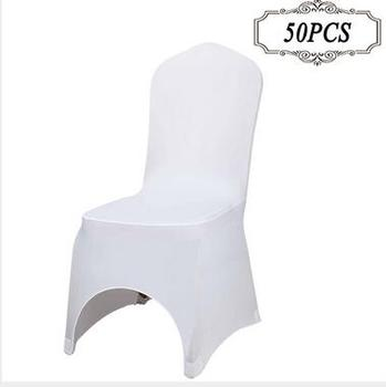 spandex chair covers cheap study with attached table 50 pcs stretch lycra universal polyester wedding for weddings party banquet hotel dining