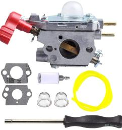 get quotations hilom carburetor with screwdriver for craftsman troybilt tb2044xp ms2550 ms2560 tb2040xp yard machine gas trimmer weed [ 1000 x 1000 Pixel ]