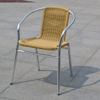 Cheap Outdoor Furniture Cane Chair Rattan With Metal Legs ...