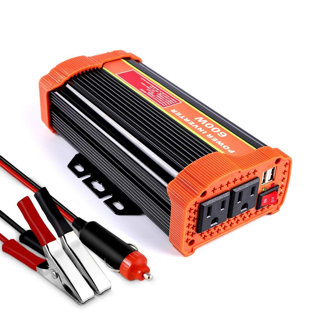 hight resolution of get quotations soyond 600w car power inverter converter dc 12v to 110v 120v ac with 2 1a