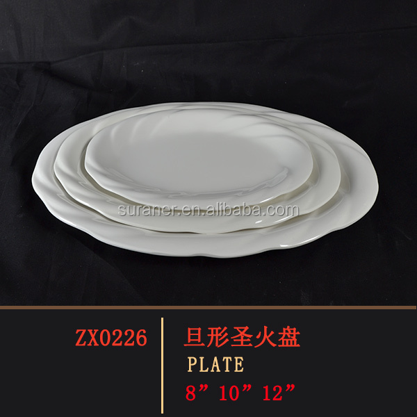 Bulk Wholesale Melamine Plate Oval Shape Fish Plates